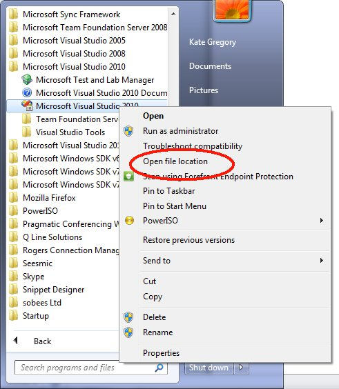Kate Gregory's Blog - Where is my Click Once stuff installed?
